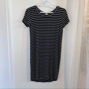 Garage striped tshirt dress